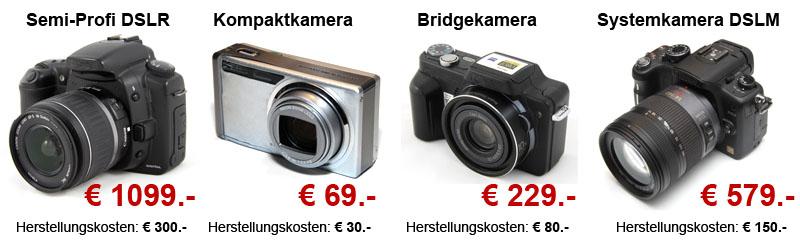 Digitalkamera-Museum: Herstellungskosten